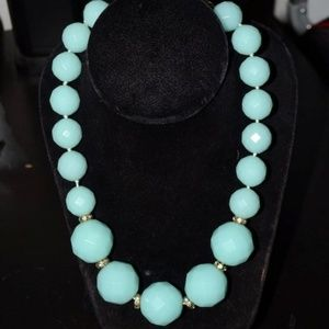 Vintage J Crew Faceted Blue Necklace